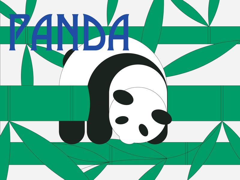 Panda 商标 插图 设计
