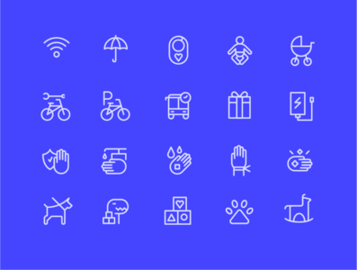 Icon set for shopping mall