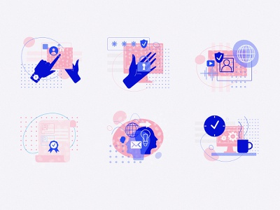 Flat illustration set ui isometric flatillustration flatdesign adobe illustrator illustration flat hand human world appdevelopment certificate work security