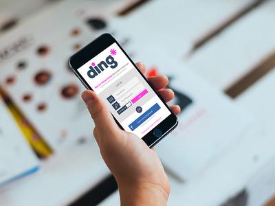 Ding.com app concept - screen 1