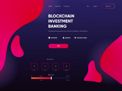 Blockchain Banking bitcoin banking blockchain minimal type app concept website flat web typography branding vector design animation pink dark ui ux app colors