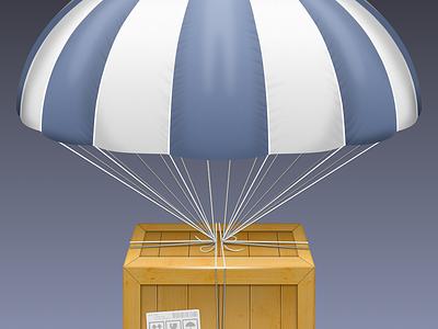 AirDrop Icon. mac icon airdrop sketch freebie goodie parachute crate