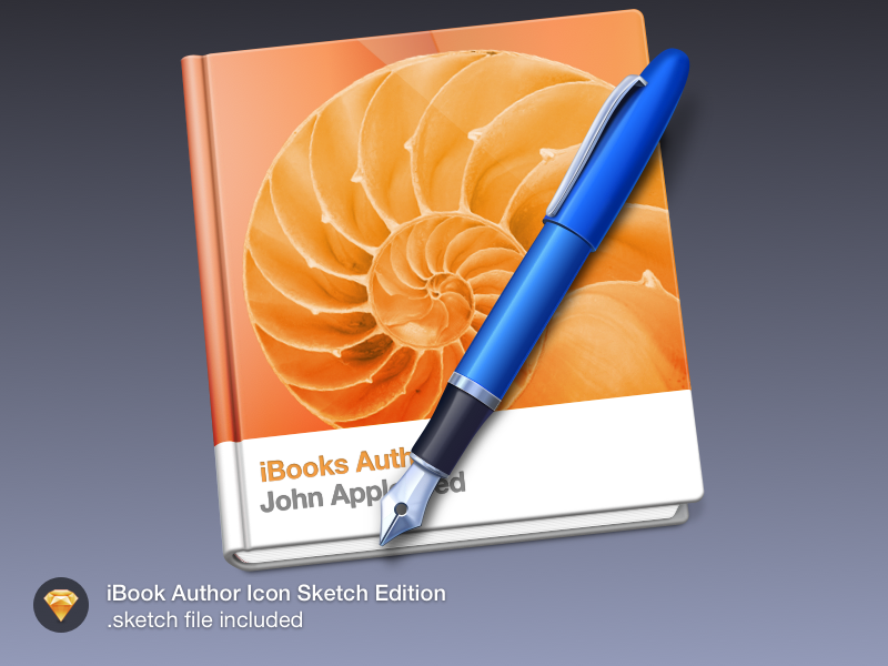 iBook Author Icon.  icon mac sketch freebie book ibook pen author goodie
