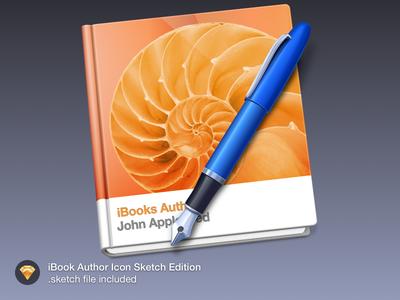 iBook Author Icon.  icon mac sketch freebie book ibook pen author goodie