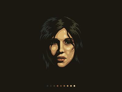 Lara sketch vector illustration character design icon