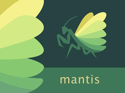 Mantis illustration colors identity logo mantis