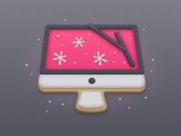 CleanMyMac Christmas illustration