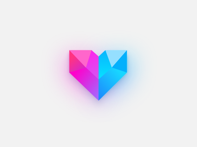 Crystal Heart sketch icon heart crystal