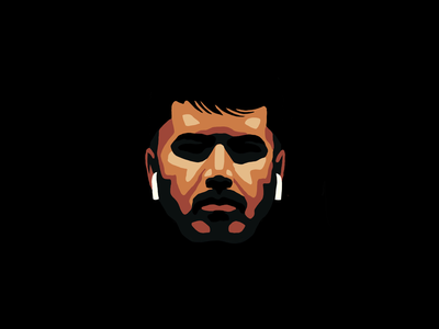 Portrait with AirPods portrait draw character illustration design icon airpods