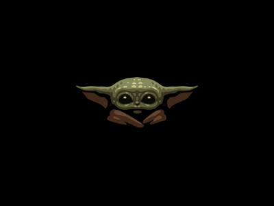 Baby Yoda iconography colors mandalorian starwars icon design baby yoda icon