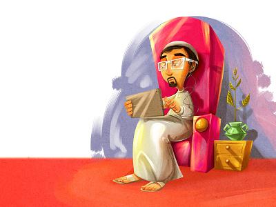 Arab Character cartoon character illustration