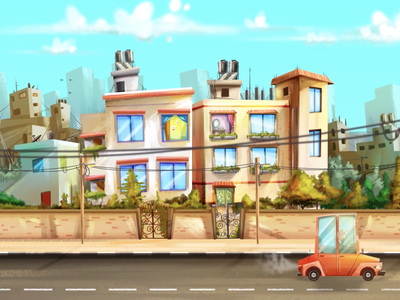 Folla & Zahra animation motion graphics character cartoon animation 2d illustration