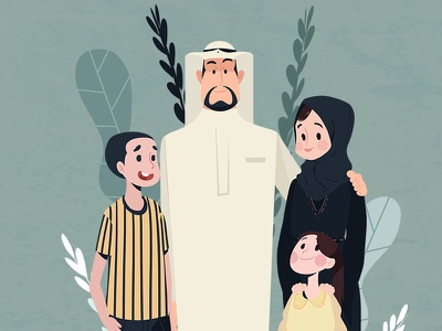 Arb Family animation motion graphics animation 2d cartoon character illustration