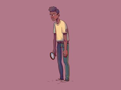 Edries arab sudan character cartoon illustration