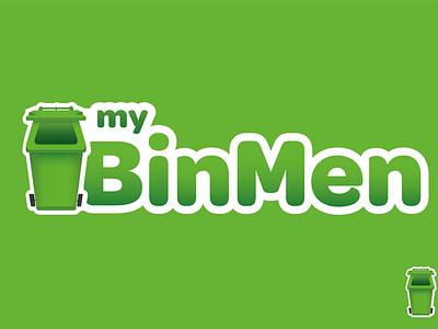 Mybinmen illustration design logo bin