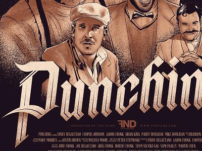 FND Films presents Punching typography illustration ink pen punching design poster gothic brush pen fnd films sean dockery movie poster