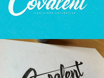 Covalent - Logo typography type brush logo branding covalent gif hand drawn custom type sean dockery script custom video