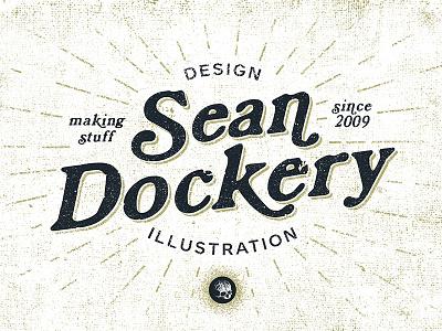 Personal logo, Type variation logo mark branding personal typography design illustration sean dockery