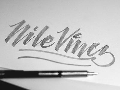Nile Vincz - Photography lettering script photography type typography custom nile vincz