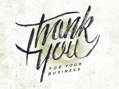 Thank You - Invoice detail type invoice lettering brush ink skull thank you sean dockery