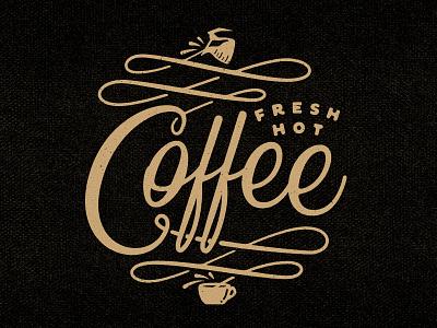 Fresh Hot Coffee! coffee lettering fresh hot type mug shirt t-shirt