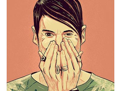 Stefon - SNL bill hader the stndrd saturday night live portrait illustration snl editorial stefon