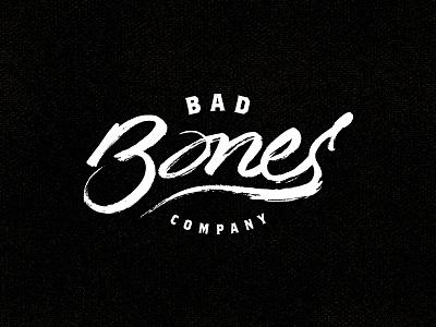 Bad Bones Company bad bones clothing bones lettering typography logo