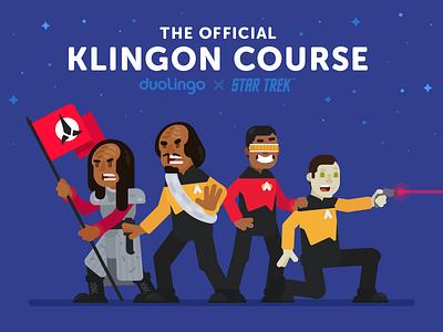 Learn Klingon on Duolingo sean dockery star trek learning space language klingon duolingo illustration