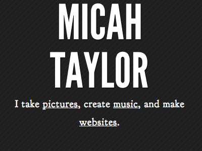 micahtaylor.com micah taylor pictures website text brochure site pin stripes