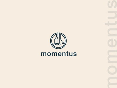 Momentus logo design