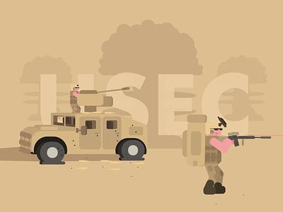 ESCAPE tarkov nightvision explosion gunshot humvee soldiers military m4 guns illustrations bold minimal simpel flat vector illustration graphics design simple graphic escape from tarkov