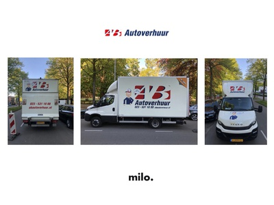 AB autoverhuur cartoon minimal simpel flat vector illustration design simple character hat milo advertisment truck sticker car renting renting sticker car sticker mascott car