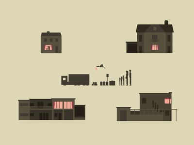 HOUSES vector truck suitcases house small simple simpel roadsign netherlands minimal character illustration graphics design art graphic flat family curacao character design character art characterdesign