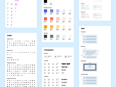 This is Pencil - Brainly Design System styleguide typography animations box model soft grid select dropdown input label button 8pointgrid grid webdesign ui motion layout icon flat design system animation