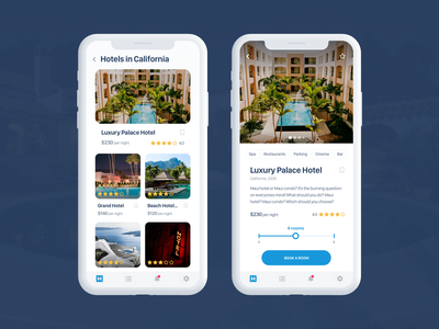 Hotel Booking App Concept iphone x apple ios mobile hotel booking clean ux ui travel booking hotel