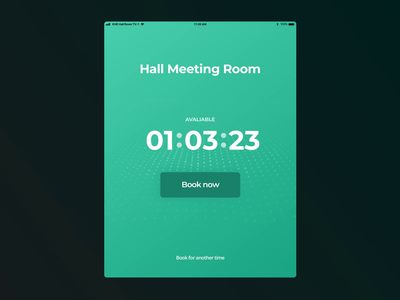 Meeting Room Tool event booking ux ui tablet meeting infrastructure