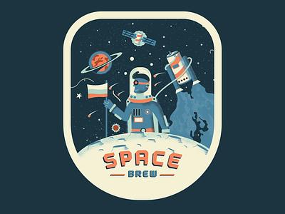 Space brew label brand identity beer branding beer label design beer can brewing brew beer