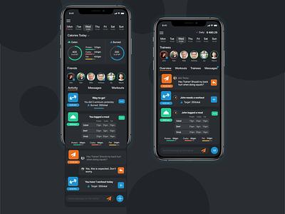 Fitness tracking app mobile ui mobile design fitness app feed workout tracking fitness