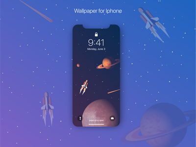 iPhone space wallpaper