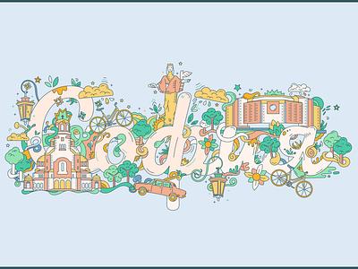 Sofia colors doodle city illustration city