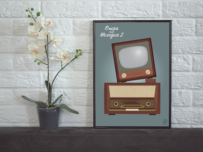 Vintage Radio and TV Poster