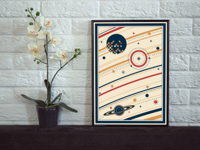 Abstract Space Art print