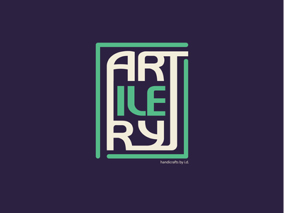 Artilery Handicrafts Logo logotype handicraft logo
