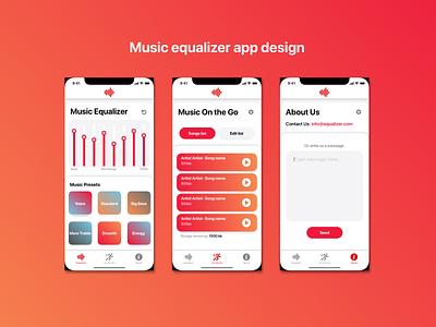Equalizer app design colors gradients app equalizer