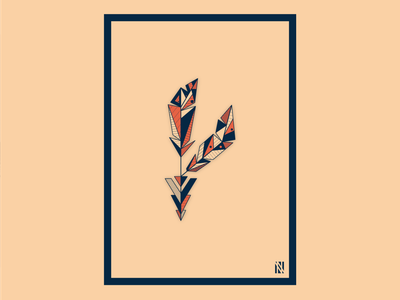 Feather colors feather artprint
