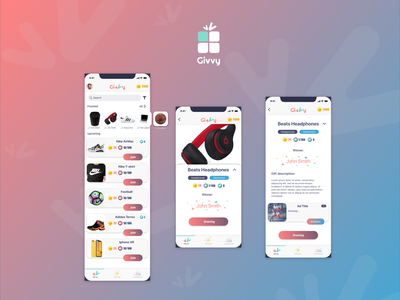 Givvy - The giveaway app gifts drawing colors design app giveaway