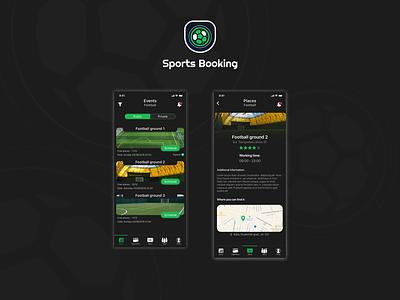 Sportsbooking redesign green black redesign design booking app booking