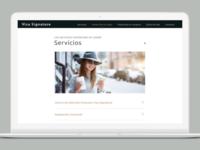 "Visa Signature - Welcome Kit ""Servicios"" (Desktop Version)"