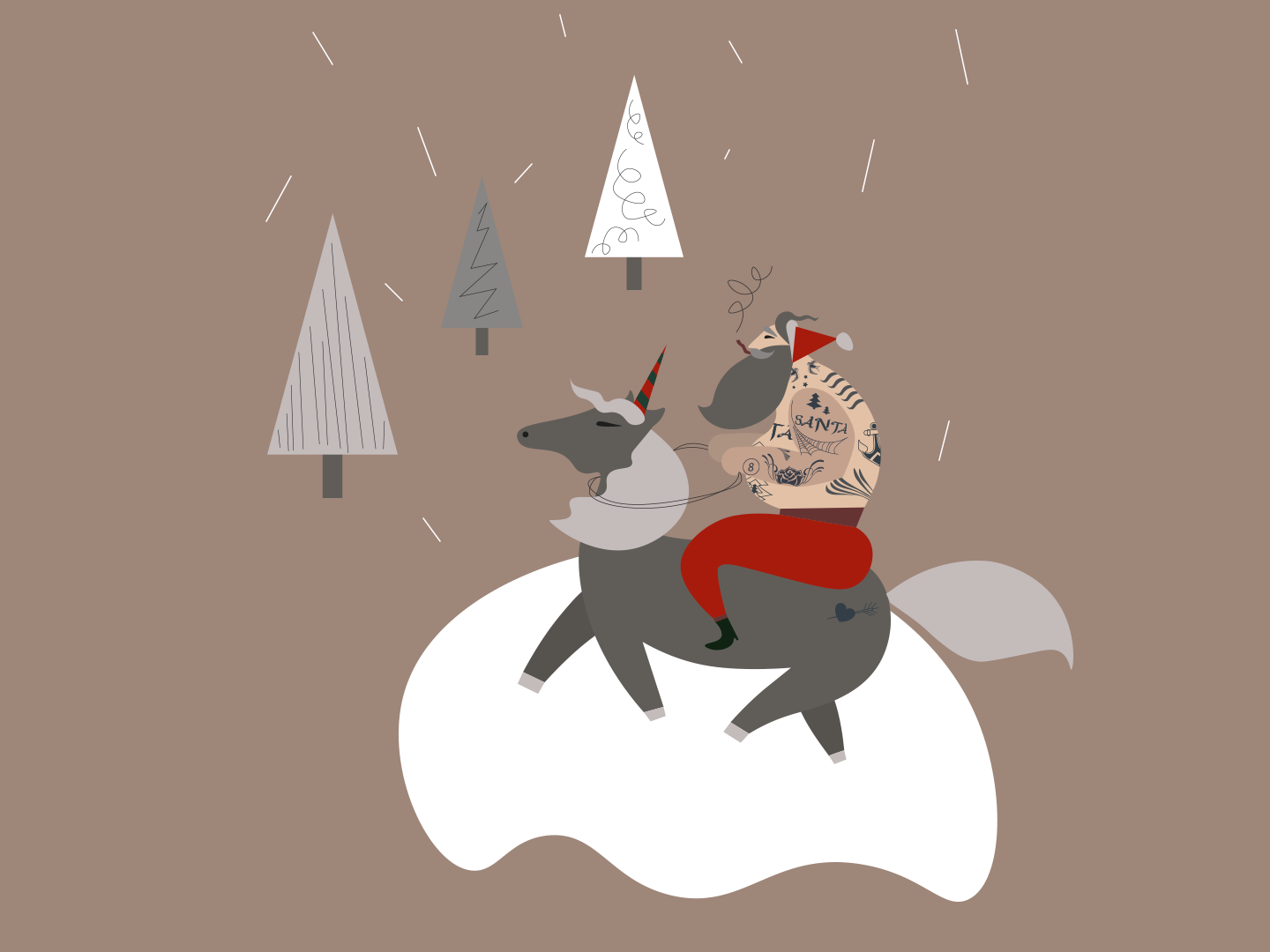 New Year is coming... party winter magic unicorn santa new year 2019 new year