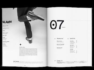 Alarm Magazine Concept monospaced black and white blackandwhite hand drawn handlettering typogaphy editorial